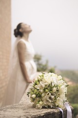 Wedd0429 (mrcphoto.it) Tags: wedding bokeh dreamer dreaming pose canon photography italy desaturated tone beautiful amazing awesome stunning cool atmosphere portrait portfolio bride weddingday weddingpose idea light bouquet mrcphotoit