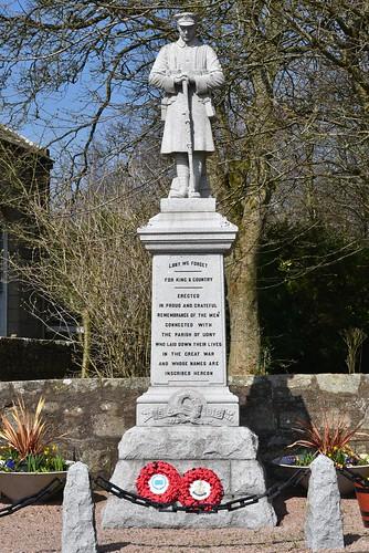 Udny War Memorial -  Aberdeenshire Scotland - 15/4/2018