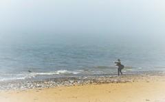 Sea Mist (1) (howell.davies) Tags: seamist mist sea tide water ocean waves beach dog canine play owner people candid sands weather llanelli wales uk nikon d3200 55300mm