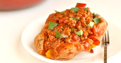 Healthy Paleo Baked Sweet Potato with Easy Homemade Chili