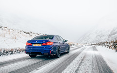 F90 M5. (Alex Penfold) Tags: bmw m5 f90 coupe blue wales 2018 anglesey snowdonia snow alex penfold