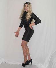 Check out my YouTube (queen.catch) Tags: catchqueen crossdresser shemale shinylycra pantyhose lace heels dragqueen ladyboy feminization femboy nylonshorts nylons legs wig makeup youtube