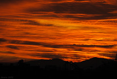Set fire to the sky (Javiera C) Tags: santiago chile sky cielo clouds nubes atardecer sunset red rojo beautiful hermoso fire fuego