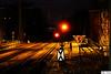 Redlight (DJR-FOTO) Tags: night nacht db bahn licht red redlight rotlicht schienen railway railroad railways outdoor outside outdoors dortmund deutschland djr djrfoto germany stadthaus orange