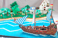 Imperial Armada Layout (sander_koenen92) Tags: lego pirates landscape layout ship fortress trees road