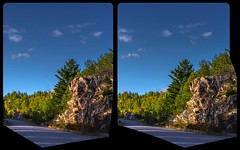 Mississagi road 3-D / CrossView / Stereoscopy / HDRaw (Stereotron) Tags: north america canada ontario forest woods outback backcountry wilderness indiansummer autumn fall quietearth crosseye crosseyed crossview xview cross eye pair freeview sidebyside sbs kreuzblick 3d 3dphoto 3dstereo 3rddimension spatial stereo stereo3d stereophoto stereophotography stereoscopic stereoscopy stereotron threedimensional stereoview stereophotomaker stereophotograph 3dpicture 3dglasses 3dimage twin canon eos 550d yongnuo radio transmitter remote control synchron kitlens 1855mm tonemapping hdr hdri raw 3dframe fancyframe floatingwindow spatialframe stereowindow window