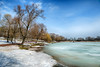Spring is slowly coming (Varvara_R) Tags: nature park view wide horizontal sunny weather ice lake tree trees nopeople snow melting spring beginning sky bluesky springtime tsaritsyno moscow russia モスクワ 莫斯科 모스크바 nikond800 hdr