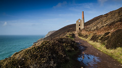"""Under blue skies"" - Wheal Coates engine building, St Agnes, Cornwall (alejandro.romangonzalez) Tags: cornwall ruins landscape stagnes outdoors nature coast coastal coastalpath mining heritage nationaltrust seascape seaside sea"