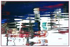 Riflessi (Luciano Schano) Tags: sonyemount55210 sonyilce6000 ilce6000 riflessi riflessialportopeschereccio astrattismo mare colori darktable240