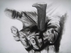 THE SACRIFICE (Sketchbook0918) Tags: sacrifice cross crucifixion jesus jesuschrist hand death bleeding lent lentenseason love christ christian religious faith repent repentance forgiveness forgive charcoal graphite drawing meaningful emotional expressive