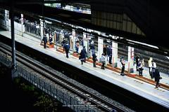 Tokyo Life (Pop_narute) Tags: tokyo japan life people japanese train station railway transport night city cityscape