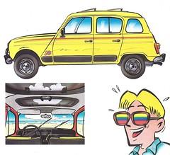 1985 Renault 4 Sixties (Hugo-90) Tags: renault ads advertising brochure car auto voiture automobile voiturette