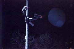 (ニノ Nino) Tags: kodak farbwelt 200 camera cctv night bokeh olympus mju ii