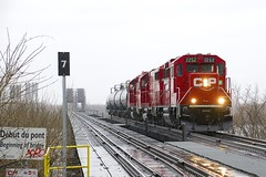 Returning to Montreal (Michael Berry Railfan) Tags: gp20ceco emd lasalle adirondacksub montreal quebec cp canadianpacific train freighttrain cp2252 cpf94