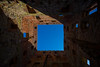 The blue square (diwan) Tags: kongerigetdanmark königreichdänemark denmark bornholm regionhovedstaden hammershus burg ruine mantelturm manteltårnet turm gefängnis nachoben upward überkopf overhead perspektive himmel sky blau blue google nikcollection plugins viveza2 fisheye canonef15mmf28fisheye canoneos5dmarkiv canon eos 2018 geotagged geo:lon=14755215 geo:lat=55270665