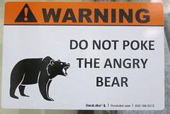 IMG_0007 (srastiello) Tags: sign bear warning