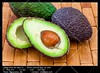Several avocados (__Viledevil__) Tags: leaf avocado cut delicious diet exotic food fresh fruit green guacamole half halved healthy ingredient nutrition nutritious organic purple ripe seed tropical vegetable vegetarian wood