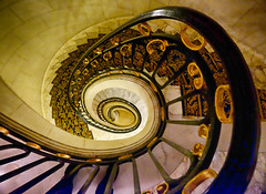 Staircase in Buenos Aires (` Toshio ') Tags: toshio buenosaires argentina southamerica architecture latinamerica stairs interior fujixe2 xe2 spiral spiralstaircase stairwell