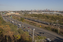 NJT 3723 in Secaucus - 10/12/2017 (John McCloskey Jr.) Tags: new jersey transit york city meadowlands arrows mu trains railroad amtrak route 95 highway electric outdoors elevation trees grass cars