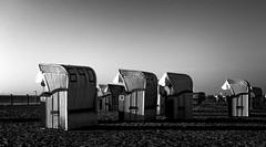 without colors I (st.weber71) Tags: nikon deutschland d850 monochrom schwarzweis blackandwhite strand beach art nordsee northsee strandkörbe sand