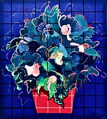 Globe basil plant (1970) - Fátima Vaz (1946-1990) (pedrosimoes7) Tags: fátimavaz ✩ecoledesbeauxarts✩ globebasilplant blue artgalleryandmuseums contemporaryartsociety caloustegulbenkianmuseum moderncollection lisbon portugal manueldebritocollection