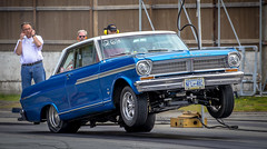Up (Paul Rioux) Tags: sislra drag racing auto automobile motorsport competition acadian gm wheelstand traction launch wheelie blue westernspeedway prioux