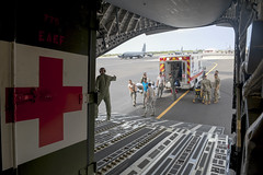 BEEliners enable AE mission (Official Travis AFB, Calif.) Tags: travisafb ca usa ae aeromedical evacuation beeliners 21stairliftsquadron asian pacific american heritage month c17globemasteriii c17 kadena anderson afb air care ccatt critical transport team medics nurse 21stas patientcare