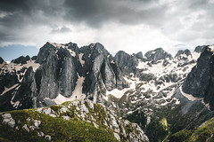 Nationalpark Prokletije (noberson) Tags: mountains peaks hiking peak volusnica hike landscape dramatic mountain prokletije albania montenegro clouds cliff rock nikon d750 green spring