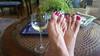 Alegra (IPMT) Tags: toenail sexy toes polish foot feet metallic fuchsia sparkling pedicure shimmer painted toenails pedi barefoot bright cherry red rojo vermelho glossy finish descalza pink rosado shimmering wine vino