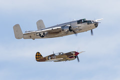 B-25 & P-40 (Trent Bell) Tags: aircraft marcharb airshow california socal airreservebase airfest 2018 marchfieldairspaceexpo marchfield marchairfield b25 b25mitchell photofanny warbird p40