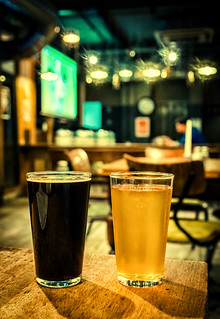 He's & Her's (Temple Brew House - London) (Cross Process Effect)  (Fujifilm X100F) (1 of 1)