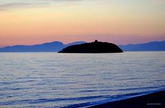 Isola di Cirella Calabria Italy (Arcieri Saverio) Tags: calabria italia italie sud meridione isola isle cirella cirellas altotirrenocosentino cs cosenza sunset sky mare mer bkue orablu diamante nikon nikkor d5100