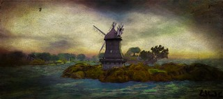 windmill in the sea - - Impressions of Second Life 842 (Whimberly     https://www.flickr.com/groups/3216736@N25/pool/, Whimberly(193, 158, 37) - Adult)