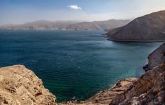 the coast of Musandam (dorinser) Tags: oman fjords khasab musandam coast arabian persiangulf
