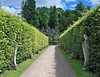 Chatsworth House-26 (Kev's.Pix) Tags: chatsworthhouse statelyhome historicbuilding gardens path hedges statue