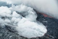 Helo flight over the summit of Kīlauea Volcano, Hawai'i (Gail K E) Tags: hawaii hawaiianislands kilauea activevolcano hawaiivolcanoesnationalpark usa caldera crater lava magma bigisland