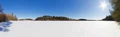 Salmijärvi - Vihti (mustohe) Tags: 2018 finland panorama talvi winter järvi lake maisema landscape lumi snow vihti hugin canon