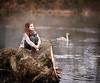 Soul... (olgafler) Tags: water reflextion girl dream dress