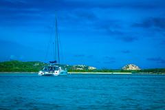SV Bailando near O'Briens Cay in the Exumas