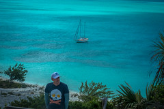 Andrew chilling on Lee Stocking Island in the Exumas.