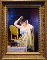 1885 pintura En el tocador de Luis Franco Salinas Museo de Navarra Pamplona (Rafael Gomez - http://micamara.es) Tags: 1885 pintura en el tocador de luis franco salinas museo navarra pamplona