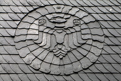 Roofing Slate Eagle, Goslar (Rick & Bart) Tags: goslar germany deutschland niedersachsen city urban rickvink rickbart canon eos70d historic architecture unescoworldheritagesite eagle adler roofingslate