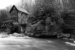 Gristmill (JCTopping) Tags: mill 6d 24mm westvirginia canon blackandwhite river gristmill danese unitedstates us