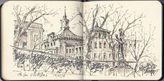 En las Vistillas. (f.gómezcorisco) Tags: rotulador airelibre castejao urbansketchers cuaderno apunte boceto dibujo madrid españa