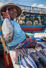 Fish Lady (si_glogiewicz) Tags: fish market trade trading sell selling woman female lady seafood sea ocean fishes hat indonesia bali asia