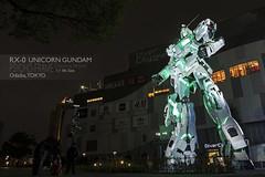 1:1 life size Unicorn Gundam in Green Psycho-frame. (Andy @ Pang Ket Vui ( shootx2 )) Tags: gundam tokyo odaiba life size diver city destroymode green psycho frame transform red x100f fujifilm wclx100ii