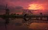 Sunrise at Kinderdijk,..... (@FTW FoToWillem) Tags: pier jetty dusk sunset windmill mill molen mølle molino molí werelderfgoed kinderdijk toerisme tourism water reflectie reflections reflexion reflektie landscape landschap landmark holland hollanda holandes holande hollande zuidholland nederland netherlands paysbas zonsondergang ftw fotowillem willemvernooy