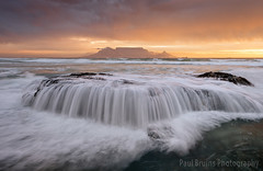 Repeat Offender (Panorama Paul) Tags: paulbruinsphotography wwwpaulbruinscoza southafrica westerncape capetown tablemountain blaauwbergbeach sunset mountain beach rock cascade orange nikond800 nikkorlenses nikfilters