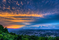 May Sunset Twilight From Mill Mountain (Terry Aldhizer) Tags: terryaldhizer spring sunset twilight mill mountain roanoke valley may sky clouds rays city star overlook blue ridge mountains terry aldhizer wwwterryaldhizercom