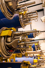 Alternative view of the ends of the magnets (evenkolder) Tags: cern sm18 acceleratorphysics physics canon6d lightroom switzerland france geneva particleaccelerator accelerator magnet dipole cryogenic